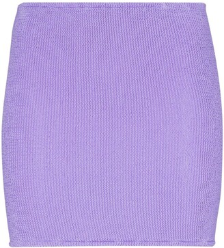 Hunza G Fitted Knit Mini Skirt