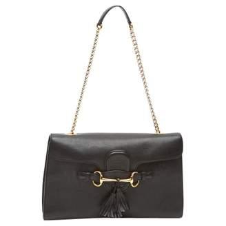 Gucci Emily Black Leather Handbags