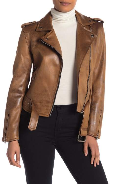 b39244d81 Coffee Shop Distressed Faux Suede Jacket