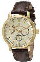 Burgmeister Women's Quartz Watch with Beige Dial Analogue Display and Brown Leather Bracelet BM218-295