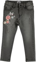 Mayoral Floral Embroidered Jeans, Size 3-7