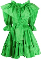 MSGM ruffled tie-waist dress