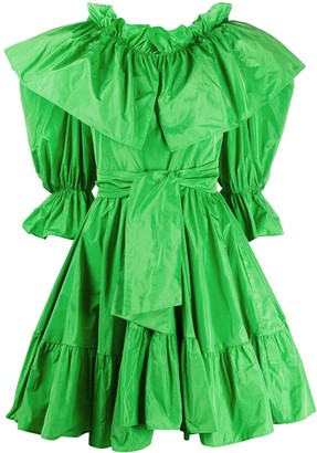 MSGM Ruffled Tie-Waist Dress