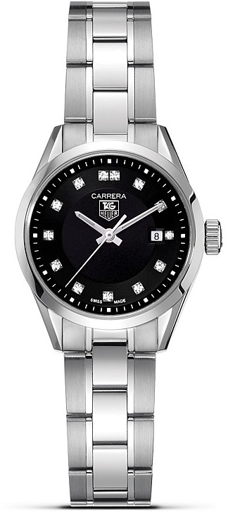 "Tag Heuer Carrera"" Watch With Diamonds, 27mm"
