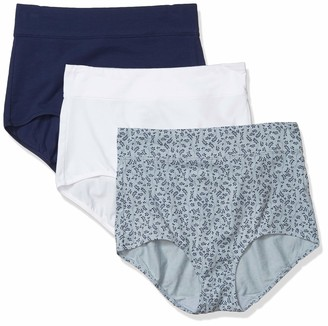 Warner's Women's No Pinching No Problems 3 Pack Cotton Tailored Brief Panties