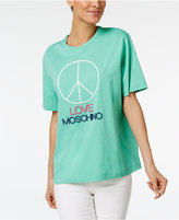 Love Moschino Cotton Peace Graphic T-Shirt