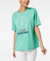 Love Moschino Cotton Peace Graphic T-Shirt