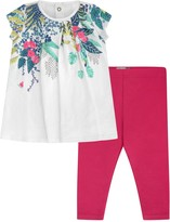 Catimini Baby Girls Tropical Dress & Leggings Set