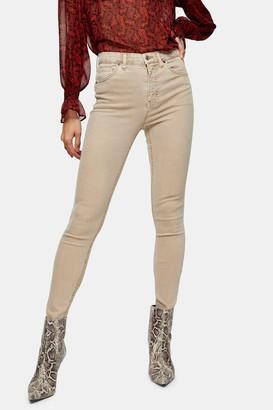Topshop Womens Sand Jamie Skinny Jeans - Sand