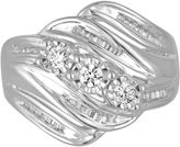 MODERN BRIDE Love Lives Forever Womens 1/2 CT. T.W. Genuine Round White Diamond 10K Gold 3-Stone Ring