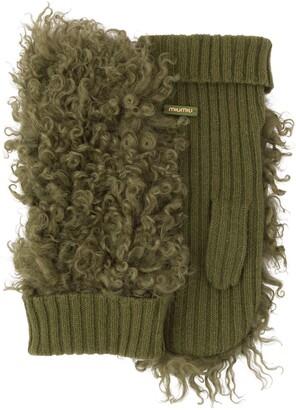 Miu Miu Knitted Shearling Gloves