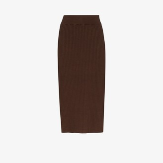 ST. AGNI Lia ribbed knit skirt