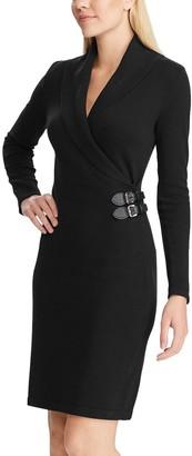 Chaps Petite Shawl Collar Sweater Dress
