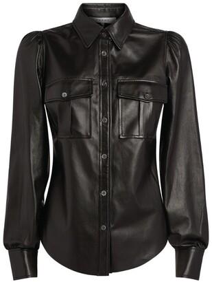 Frame Feminine Leather Military Shirt