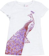 Pink Chicken Lucky Fish Graphic Tee (Toddler/Kid)-White-XL (14-16 Years)