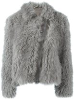 Brunello Cucinelli zipped fur coat