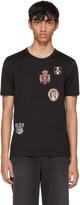 Dolce & Gabbana Black Embroidered Crest T-Shirt