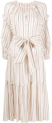 Ulla Johnson Ruffled Striped Print Dress