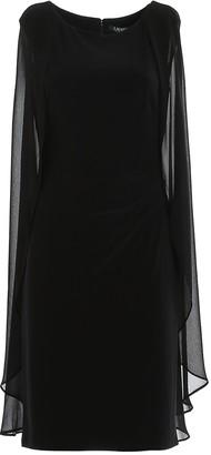 Lauren Ralph Lauren Draped Cape Dress