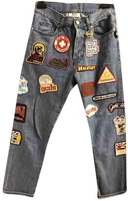 GCDS Blue Cotton - elasthane Jeans for Women