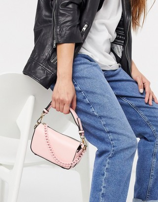 Topshop boxy chain mini bag in pink