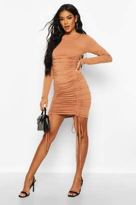 boohoo Ruched Detail Jersey Dress