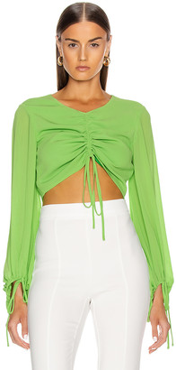 STAUD Blossom Top in Key Lime | FWRD
