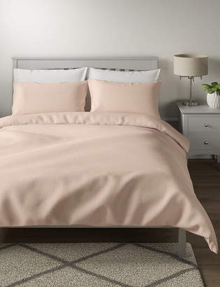 Marks and Spencer Pure Cotton Waffle Bedding Set