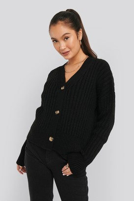 NA-KD Mohair Blend Chunky Cropped Cardigan