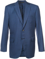Brioni checked blazer