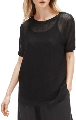 Eileen Fisher Bateau Neck Elbow-Sleeve Tunic