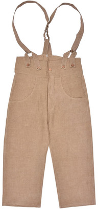 Lanefortyfive Pantaloni4 Women's Trousers With Braces - Brown Linen