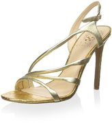 Vince Camuto Tiernan Women US Size 5.5 Gold Leather Slingback Heel