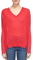Whistles Notched-Hem Sweater