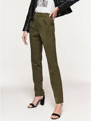M&Co Crepe tapered trousers