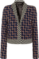 Haider Ackermann Cropped wool-blend bouclé-tweed and jacquard jacket