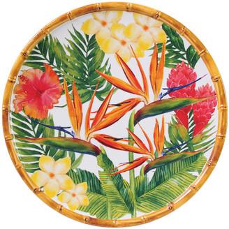 Les Jardins de la Comtesse - Exotic Flowers Plate - Dinner Plate