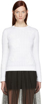 Valentino White Embroidered Butterfly Pullover