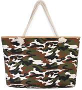 Riah Fashion Camouflage Print Tote