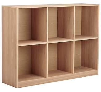House by John Lewis Cube 2 x 3 Shelf Unit, FSC-Certified, Oak