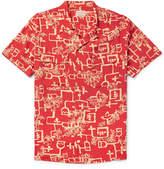 Levi's Vintage Clothing - 1940s Camp-collar Printed Matte-satin Shirt