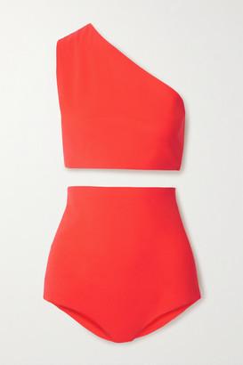 Bottega Veneta One-shoulder Bikini - Tomato red