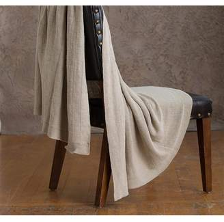 Ya-Ya & Co. Indira Taupe Knitted Linen Throw