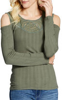 Jessica Simpson Rosarie Roundneck Long Sleeve Top