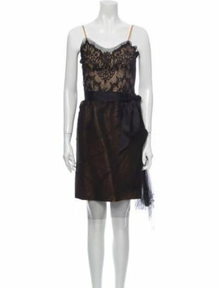 Lanvin Silk Midi Length Dress Black