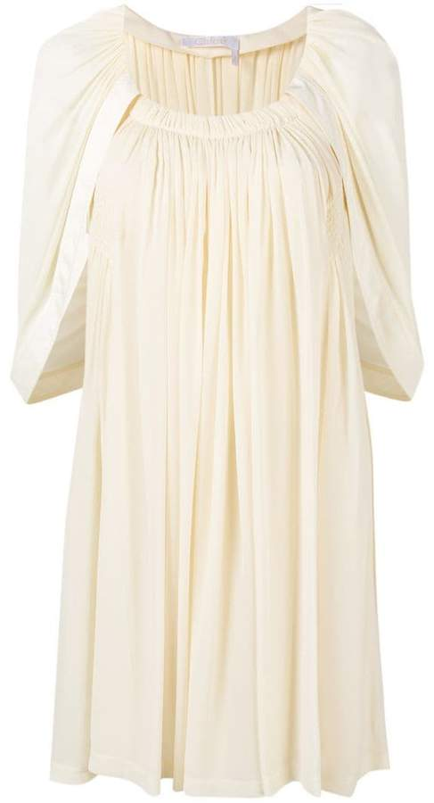 Chloé cape sleeve shift dress