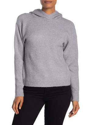 Magaschoni M Drop Shoulder Cropped Pullover Hoodie