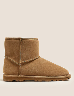Marks and Spencer Suede Faux Fur Lining Boots