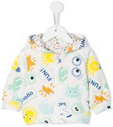 Fendi multi print zip hoodie