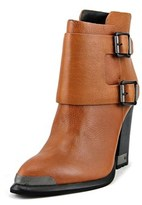 Calvin Klein Jeans Corella Women Pointed Toe Leather Brown Ankle Boot.